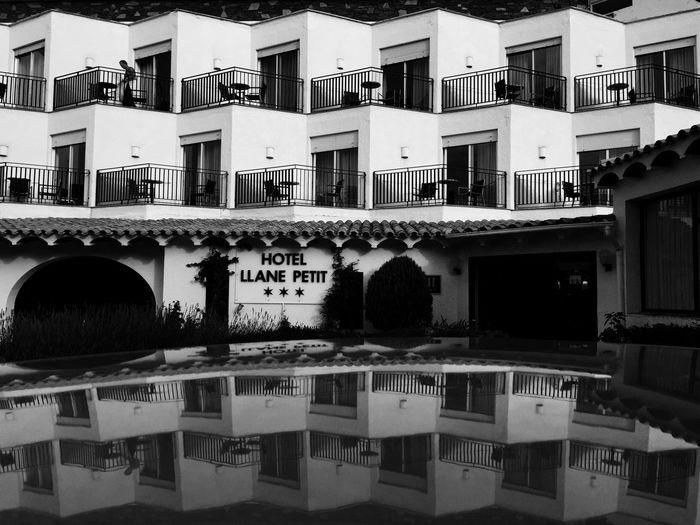 Black & White Blackandwhite Photography Photography Fakeormistake Reflection Urban Architecture Hotel Cadaqués Costa Brava Mediterranean