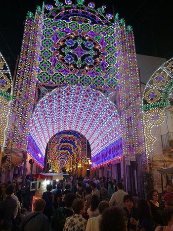 Sortino Large Group Of People Illuminated Event Multi Colored Decoration Fun