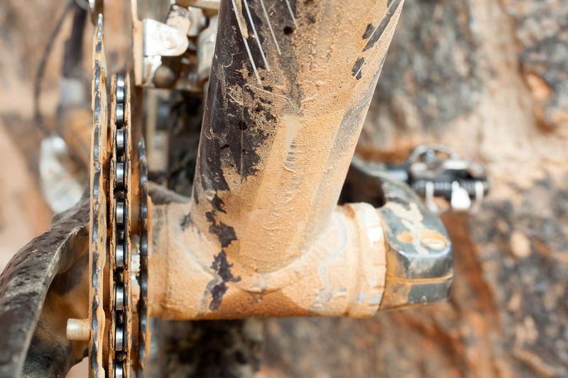 Bike Parts MTB Mountain Bike Bicycle Bike Bike Chain Bike Part Bycicle Parts Chain Chainring Chainrings Close-up Day Detail Dirty Metal Mud No People Outdoors Rusty Trail