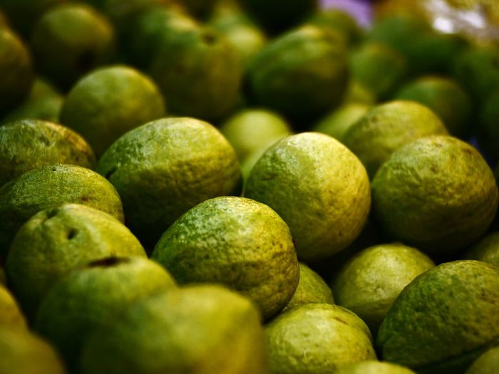 Full frame shot of guavas at market