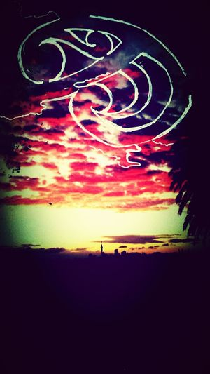 Cityscapes Sky On Fire Sunset Silhouettes Maori Art