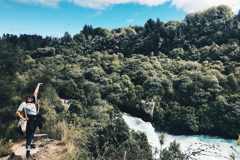 Newzealand Asiangirl Nzworkingholiday Falls Hukafalls Tree Sky First Eyeem Photo