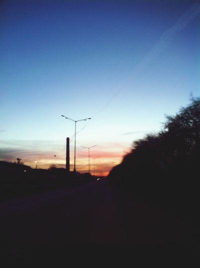 Тольятти красивый закат красивыйвид Дорога