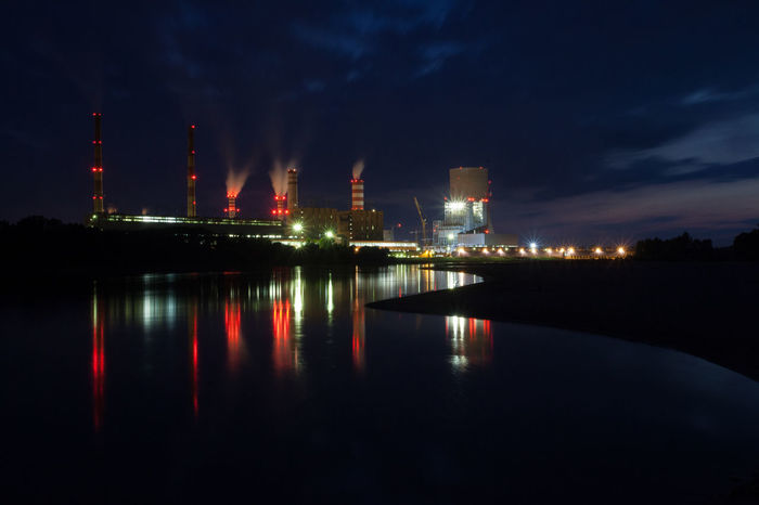 Power Stations Architecture Built Structure Capital Cities  City City Life Cityscape Cloud - Sky Development Illuminated Light Modern Night No People Outdoors Reflection River Scenics Sky Tall - High Tourism Travel Destinations Urban Skyline Water Waterfront