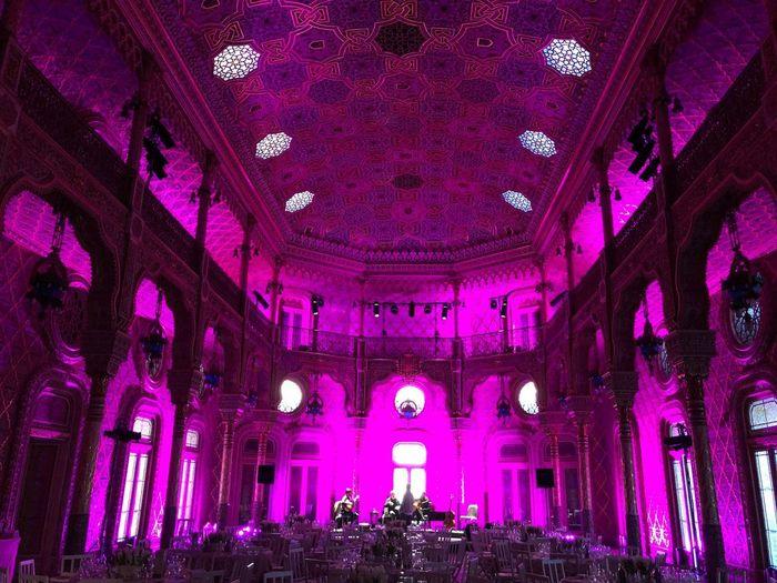 Palácio da Bolsa Purple Indoors  Ceiling Illuminated Architecture Low Angle View Pink Color First Eyeem Photo
