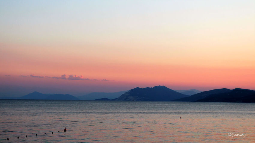 Beauty In Nature Greece Mountain Nature No People Outdoors Sea Skiathos_island Sky Sunset Water