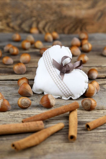 Christmas Love Romantic Beach Brown Cinnamon Close-up Day Food Food And Drink Hazelnut Heart Indoors  Large Group Of Objects No People Nut - Food Warm Wood - Material Wooden