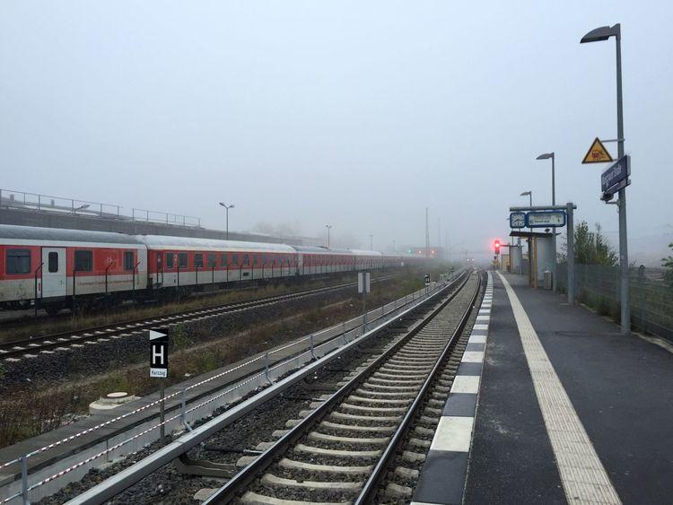 Fog Foggy Morning Waiting Train Station Train Tracks My Fuckin Berlin