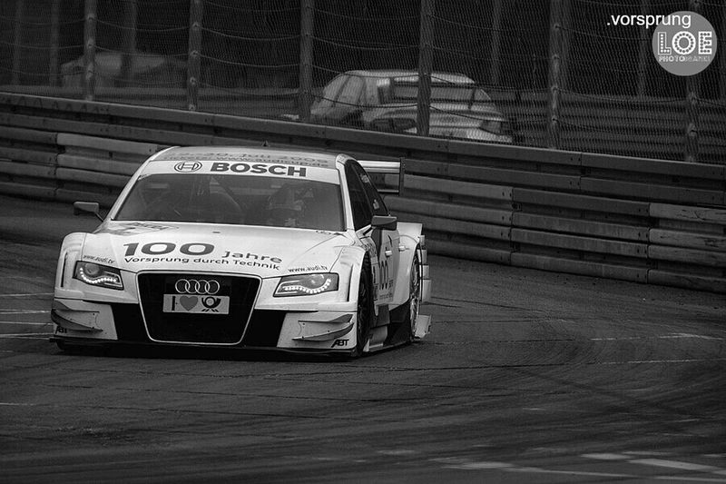 Working Blackandwhite Motorsport Racecar