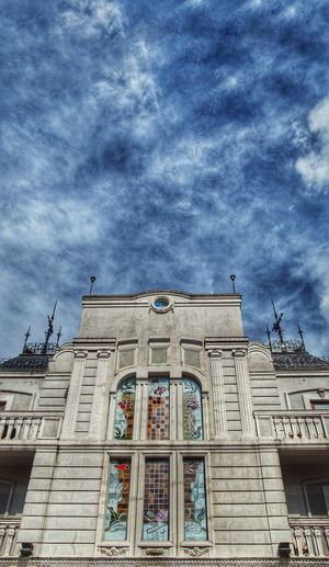 Architecture Building Exterior Built Structure Low Angle View Cloud - Sky Sky Building Spirituality Religion Place Of Worship Belief Day Window No People Nature Travel Destinations Outdoors History Ornate