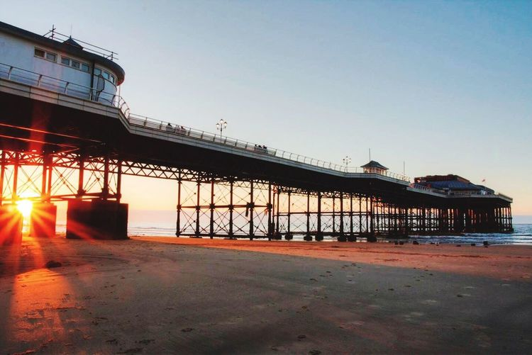 Clear Sky Built Structure Architecture Day Outdoors Sky No People Water Pier Cromer Pier Cromer Beach Cromer Norfolk Sun Sunset