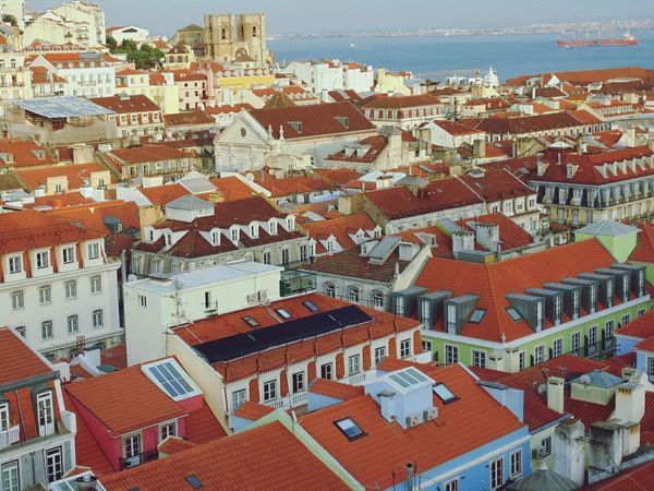 View over Lisbon from Elevador da Glória.Lisbon, Portugal. Roof Rooftops Roof Tile Rooftop View  Lisbon - Portugal Lisboa Portugal Lisbonlovers Architecture Building Exterior No People Full Frame Outdoors Day Backgrounds Cityscape City