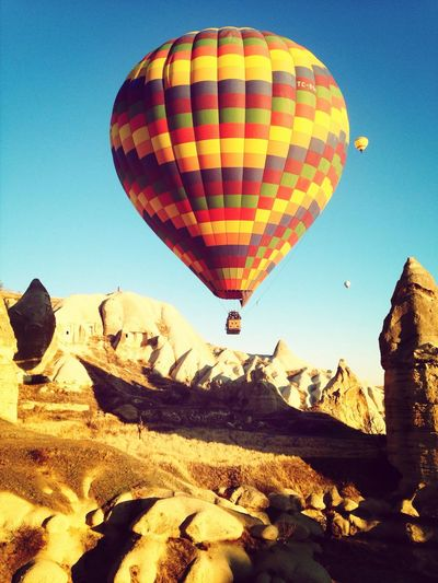 Fire Balloon Landscape Enjoying The View Colorful