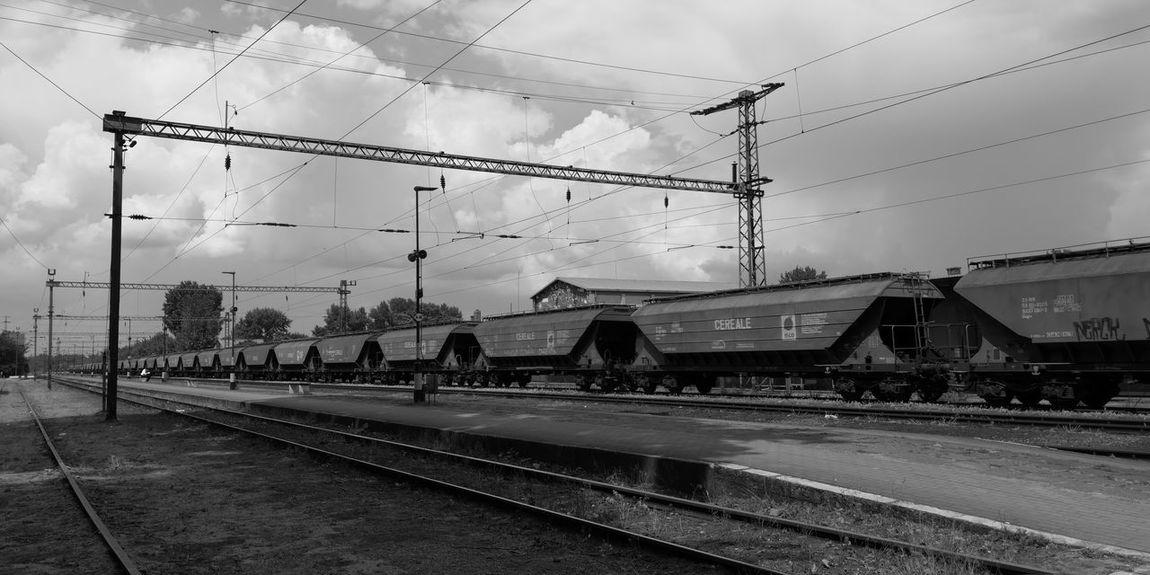 Technology Cable Electricity  Silhouette Sky Rail Transportation Railway Station Passenger Train Railway Station Platform