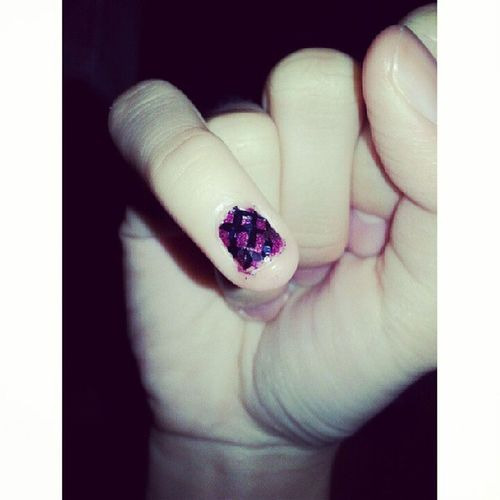 My nail painted by @zhangmeiting Shopping Sunday Tester LOL nice