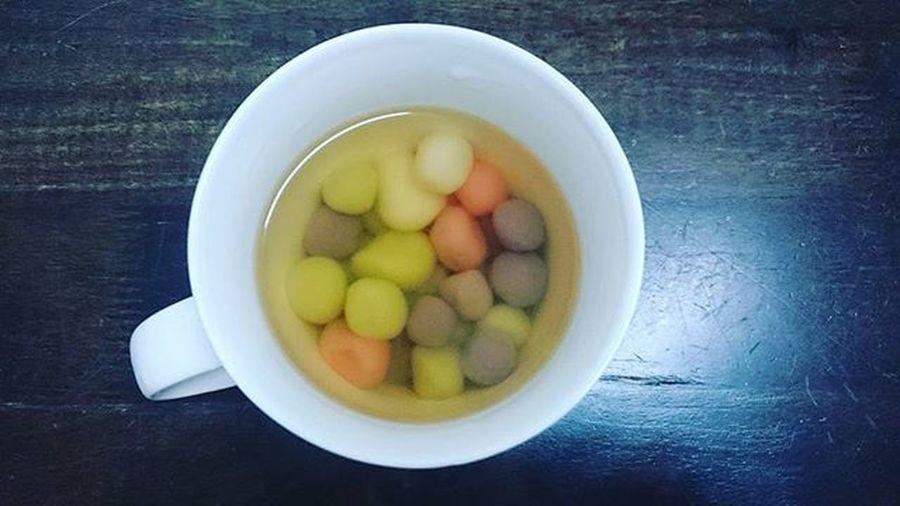 四色湯圓~ 洛神花,紫番薯,香草,原味~ Dumpling  Naturalcolor  Yummy