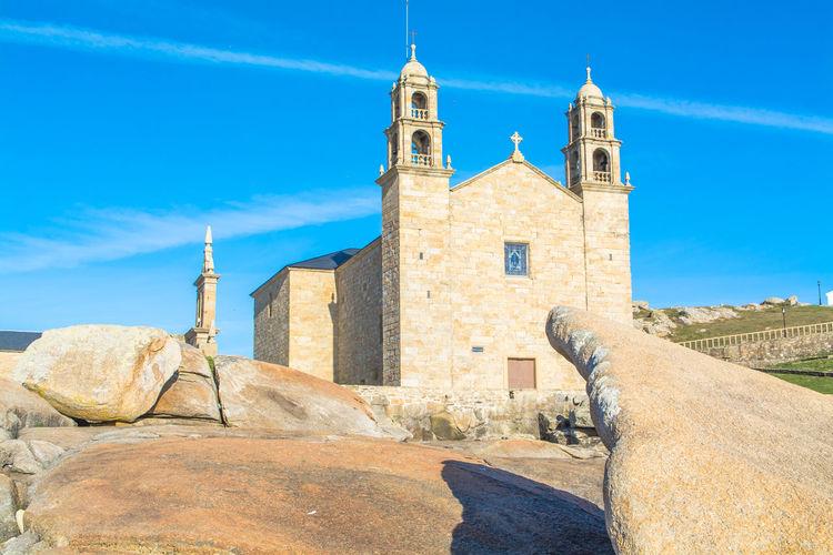 Virxe da barca sanctuary against blue sky on sunny day