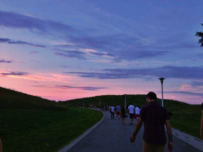 Sunset #sunset #sun #clouds #skylovers #sky #nature #beautifulinnature #naturalbeauty #photography #landscape