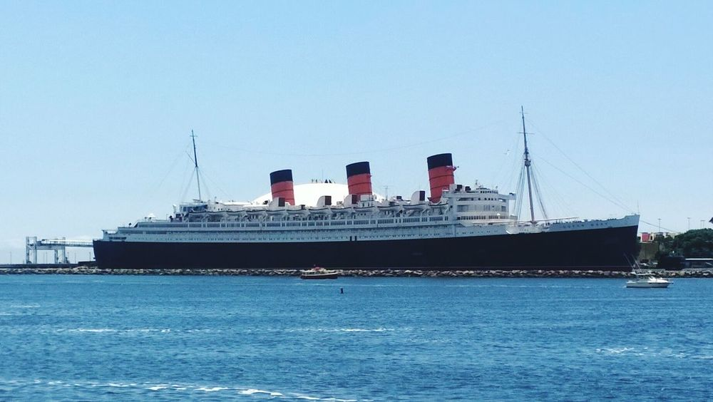 Queen Mary Ship Water Sky Boat