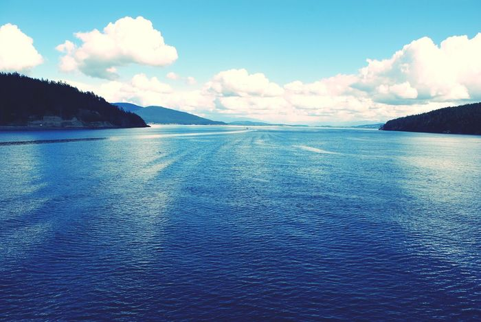 Pacific Sky Nature Scenics Tranquility Cloud - Sky Mountain Beauty In Nature Sea Water No People Waterfront Outdoors Day