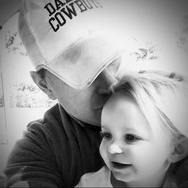 Dallas Cowboys Daddy's Girl Blackandwhite Photography Black And White