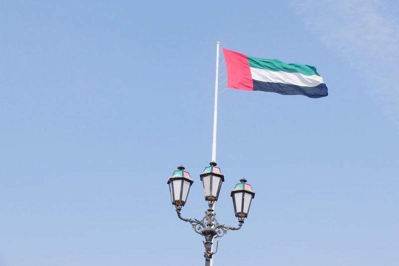 UAE Flag Dubai Dubai❤ Sharjah Abu Dhabi Flag Flags In The Wind  Flag Pole UAE UAE Flag UAE , Dubai Uaelife🇦🇪 Uaenationalday EyeEm Selects Extreme Sports Full Length Sport Clear Sky Stunt Person Teamwork Blue Multi Colored Athlete Sports Team National Icon Symbolism Patriotism Identity