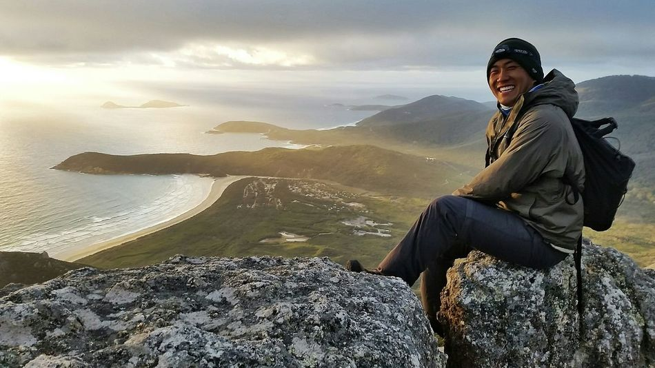 The happy tramper Hiking Adventures Hiking Camping Backpacking Mountain Beach Sunset Australia Victoria, Australia Visitaustralia Wilsons Promontory Wilsonsprom Happiness Travel Travel Photography Beautiful Nature Outdoors