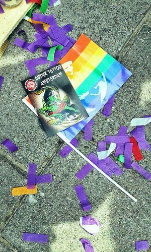 Capturing Freedom Tattooshop Taking Photos Celabrating Rainbowflag Gaypride Amsterdam