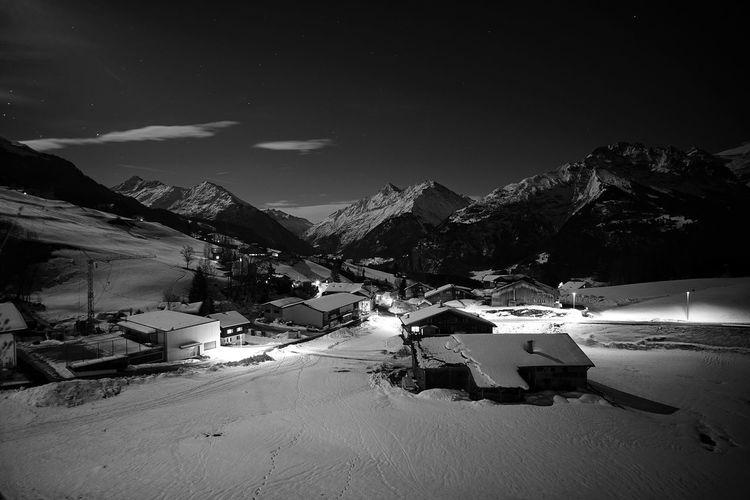 Peaceful Winter Night No People Landscape Winter Nightsky Night Nightphotography Mountain Snow Sky Calm Snowcapped Mountain First Eyeem Photo