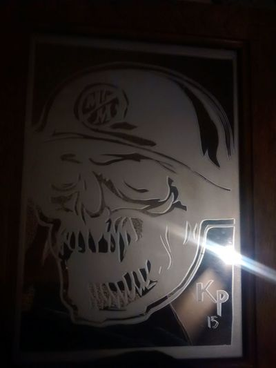 Mirror Metal Mulisha Taking Photos Check This Out Homemade Giving Things Personality i made this last winter and put leds in to make it glow. Gave it to my dad and he loved it