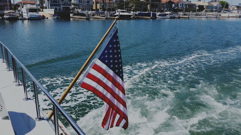 Capturing Freedom Sail Away, Sail Away Red White And Blue Flag Flying Free On The Ocean America USA
