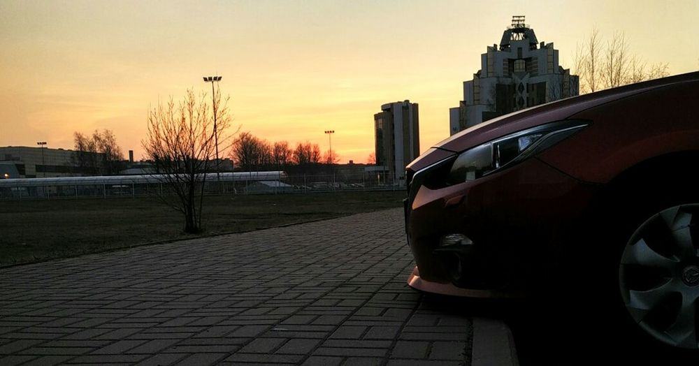 The Drive Cat Car Sunset Transportation City Sky Stationary No People Architecture Outdoors Red Faraway Love Go Ride Nature машинамечты безобработки Roadside скорость Sports Car Nature Fast Sport
