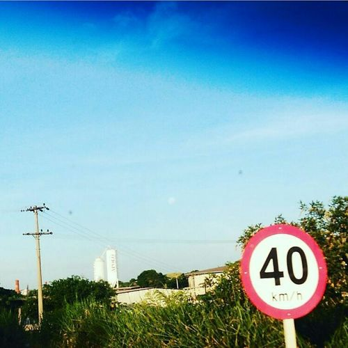 #Brasil Paradise Estradas Road Sign Tree Speed Limit Sign Communication Guidance Circle Sky Grass EyeEmNewHere