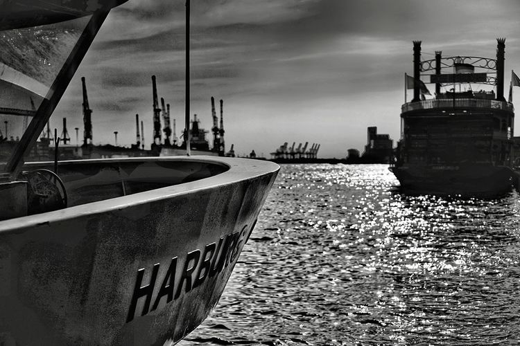 Harbour Silhouettes Noir Et Blanc Black And White Dramatic Sky Harbour View Silhouette Sky Water Nautical Vessel Transportation Architecture Nature Built Structure No People Mode Of Transportation City Moored Pier Day Waterfront Canal Outdoors Sea Building Exterior Harbor Cloud - Sky