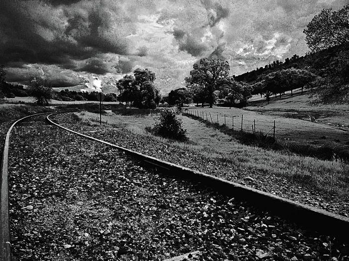 Blackandwhite Black And White Black & White Train Train Tracks Popular Photos Travelling Traveling Trailblazers_rural OpenEdit