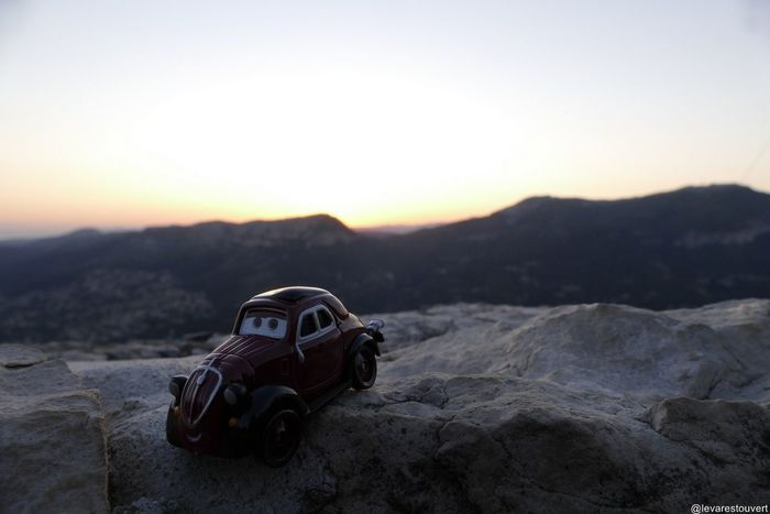 Cars Pixar  Mountains Sunset Toyphotography Toys