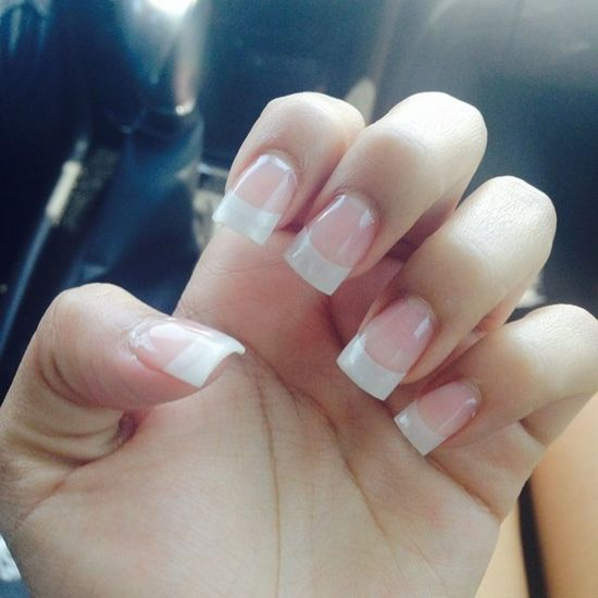 Got my nails did thanx to @pinkksun ❤️? ?? Frenchtip Nails YEAHBUDDY Pretty pamperingmyself foredc