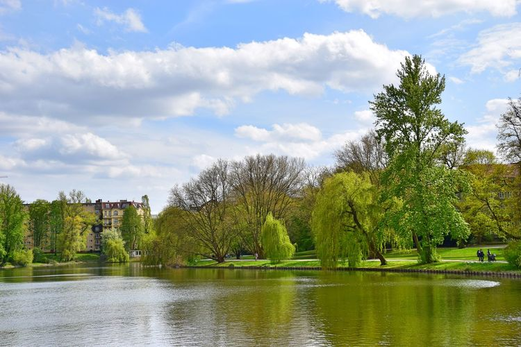 Architecture Beauty In Nature Building Exterior Built Structure Cloud - Sky Day Good Bye Beautiful Lietzensee Grass Green Color Growth Lake Lake View Lietzensee Nature No People Outdoors Scenics Sky Spring Tranquil Scene Tranquility Travel Destinations Tree Water Waterfront