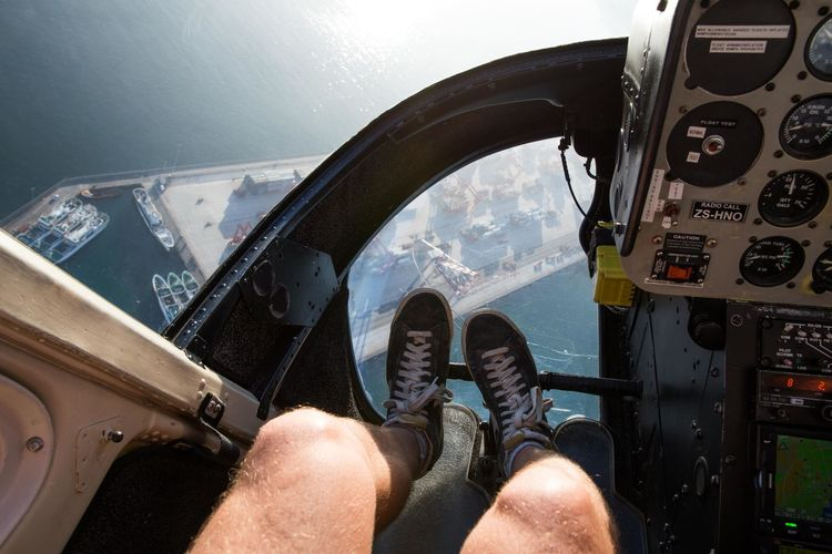 From where I stand. Adventure Cape Town Close-up Cropped Day Fun Helicopter Helicopter View  Journey Land Vehicle Leisure Activity Lifestyles Mode Of Transport Part Of Personal Perspective Sky Sneakers Unrecognizable Person Vehicle Interior Social Media Collection