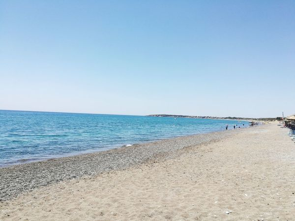 Griechenland Rhodos, Greece  Plimiri Mittelmeer Water Beach Sea Horizon Over Water Sand No People Blue Sky Clear Sky Nature Outdoors Day