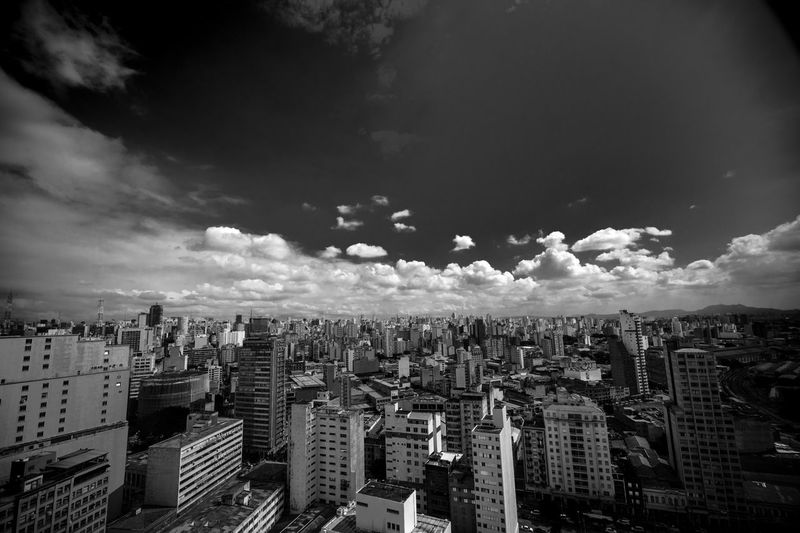 Skyline Urban Up Close Street Photography City SP Blackandwhite Cloud - Sky Sao Paulo - Brazil Black & White Buildings Urban Skyline High Angle View