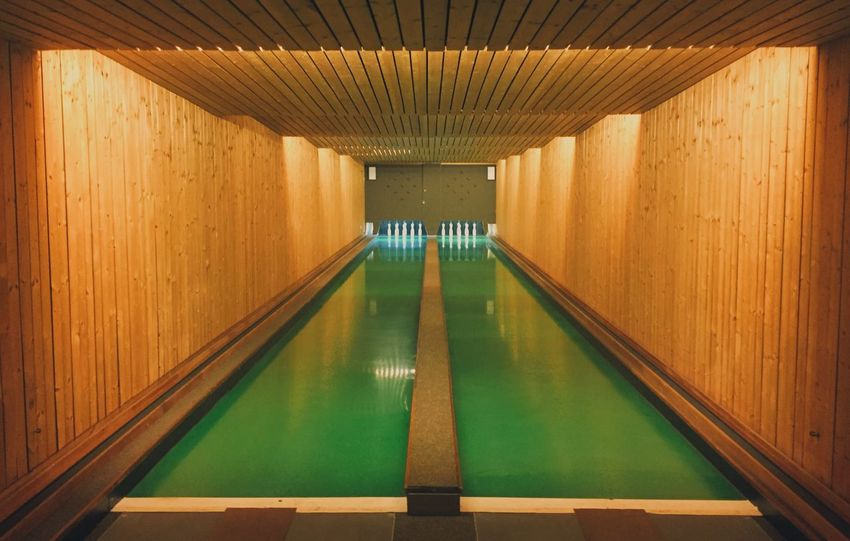 Bowling Wesanderson Architecture Built Structure Indoors  The Way Forward Architectural Column Water EyeEmNewHere No People Illuminated