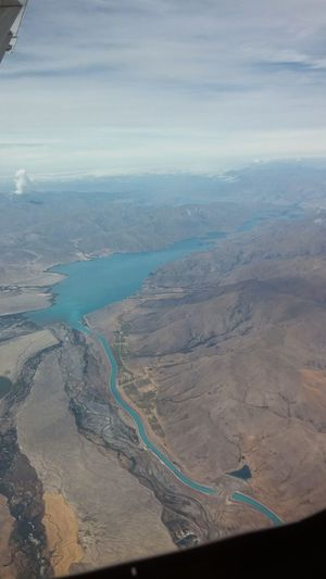 Airplaneview Airplane Airplane Window Airplane Window View Aerial View Landscape Scenics Outdoors No People Nature Beauty In Nature Day Water Bluewater Lake New Zealand Beauty New Zealand Landscape Newzealandscenary Newzealandphotographic