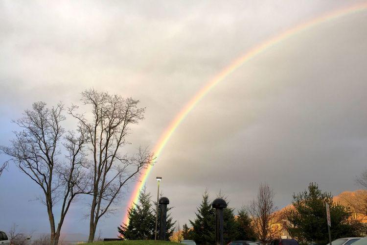 RainyDay turned to beautiful view. Taking Photos Weather Rainbow
