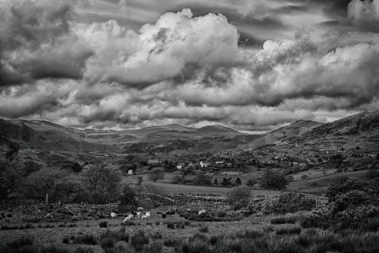 Welsh Valley HDR Taking Photos Summertime Black & White Wales