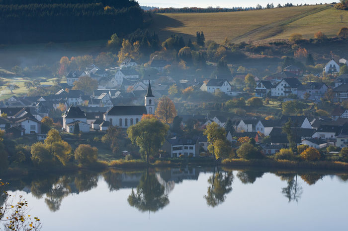Autumn Eifel Eifel Germany Herbst Lake Nature Outdoors Reflection Schalkenmehren Schalkenmehrener Maar Travel Destinations Tree Water