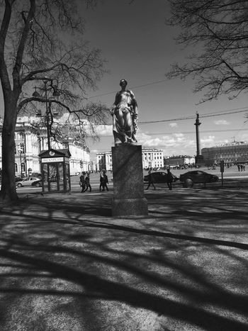 Russia Saint Petersburg Monument Statue City Blackandwhite Black And White Blackandwhite Photography