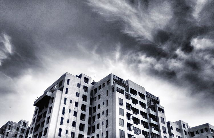 Building Exterior Architecture Sky Built Structure Low Angle View City Cloud - Sky Outdoors No People Day Skyscraper Apocalypse Apocalyptic Edited On IOS
