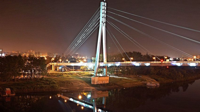 """Город Тюмень """" пешиходный мост"""""""