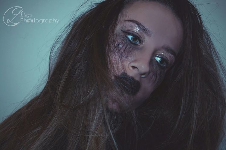 Fantasy Beauty Beautiful People One Young Woman Only Headshot Portrait Long Hair Young Women Only Women Adult One Person People Evil Human Body Part Glamour Young Adult Beautiful Woman One Woman Only Indoors  Adults Only VSCO Part Of Looking At Camera Human Eye Close-up